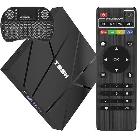 2020 Android TV Box 10.0 con Mini Teclado Inalámbrico, T95H 1GB RAM 8GB ROM Allwinner H616 Quad-Core Smart Box 64-bit, Soporte 6K, H.265, 3D, 2.4G ...