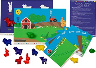 My Busy Bots Quack Quack Moo Oink Bag of Animals and Their Homes to Guide developement in Learning, While Focusing on Building fine Motor Skills