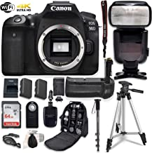 $1219 » Canon EOS 90D Digital SLR Camera Bundle (Body Only) with Battery Grip & Professional Accessory Bundle (15 Items)
