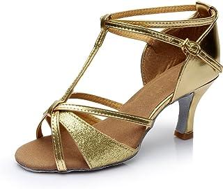 021ccbee7a776 VESI-Chaussures de Danse Latine Talons Hauts Sandales pour Femme
