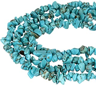wanjin Blue turquoise Stone crystal Chips Beads 5~8mm 34 Inches per strand For Jewelery Making