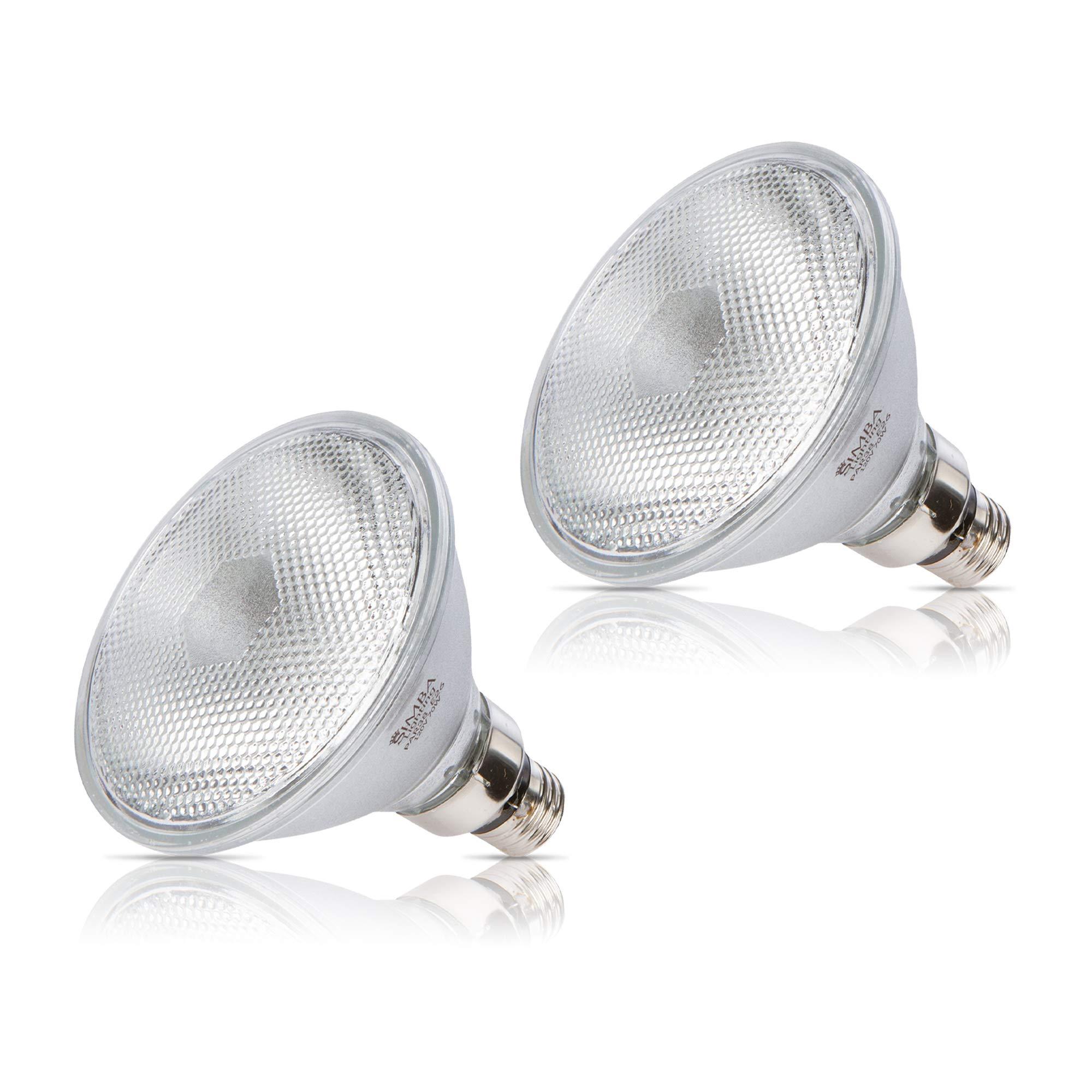2 Pack] Simba iluminación ™ halógena 70 PAR38/FL 120 V 70 W E27 alta salida (90 W a 100 W de repuesto) luz de inundación bombillas suave blanco E26 tamaño mediano Base: Amazon.es: Bricolaje y herramientas