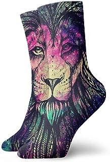 tyui7, Rainbow Lion Galaxy Calcetines de compresión antideslizantes Cosy Athletic 30cm Crew Calcetines para hombres, mujeres, niños