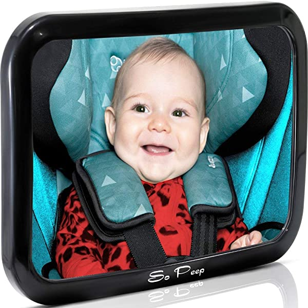 Baby Backseat Mirror For Car View Infant In Rear Facing Car Seat Newborn Safety With Secure Headrest Double Strap Essential Car Seat Accessories