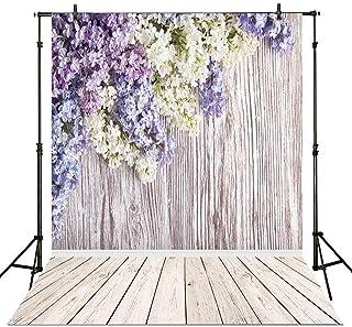 allenjoy 5x 2,1Photography Hintergrund Colorful Blütenblatt mit Holz, Hintergrund für Foto Studio