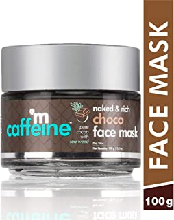 mCaffeine Naked & Rich Choco Face Mask | Cocoa, Sea Weed | Deep Nourishing | Dry Skin | Paraben & Mineral Oil Free | 100 g