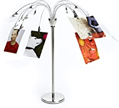 Umbra Fotofalls – Desktop Photo Holder and Picture Stand with Plated Wire and Metal Clips, Nickel, Silver