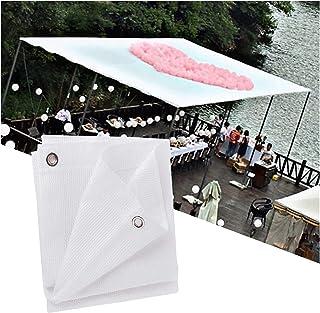 Skuggnät, Utomhusskuggduk UV-block Andningsbart tygnät för veranda Vertikal skärm,White,2x4m