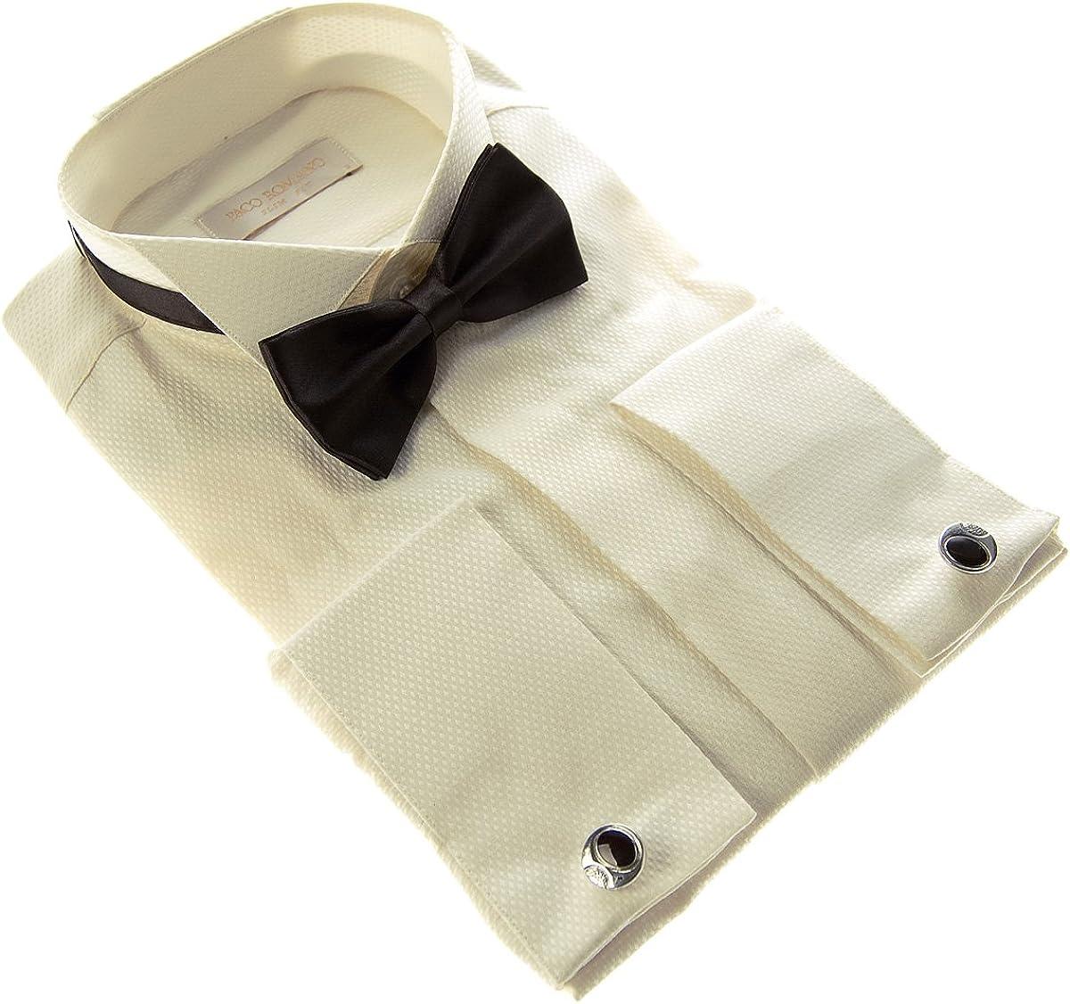 Paco Romano Designer Smoking Camisa Mosca Slim Fit Hombre ...