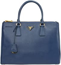 Prada Women's Galleria Saffiano Leather Bag Model 1BA274, Blue, Classic