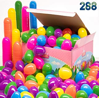 Prextex Easter Eggs Assortment 288 ct. - Best Value 288 Easter Eggs in Designed Box