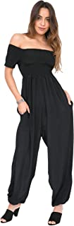 likemary Silk Look Romper Womens Jumpsuit Off Shoulder Bardot