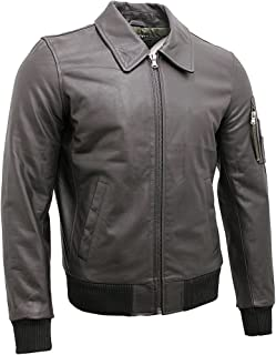 Infinity Men's A2 Brown Cowhide Analine Leather Bomber Jacket