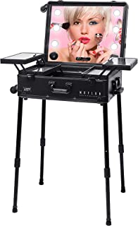 MAYLAN Makeup Stand Trolley Case with LED lights,speakers,bluetooth player,multimedia MP3 - Black