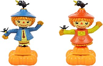 Solar Dancing Happy Fall Mr. And Mrs. Scarecrows