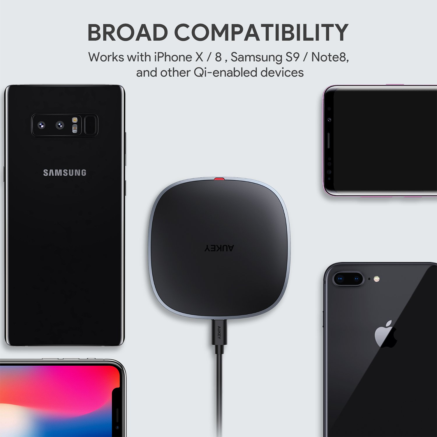 AUKEY Wireless Charger Qi Certified