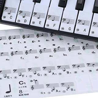 Gecheer Transparent 49 61 Key Electronic Keyboard 88 Key Piano Stave Note Sticker for White Keys
