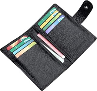 محفظة المرأة حظر دفتر الشيكات المحفظة مع فتحات بطاقات الائتمان البريدي حول حامل للجنسين محفظة جلدية صغيرة محافظ للنساء أسود