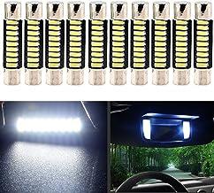 EverBright White 29MM Festoon Led for Car Visor Mirror Lights, 6641 6612F Led Festoon Bulb 12V Dome Light, 4014-9SMD, Pack of 10