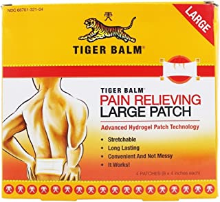 Tiger Balm Pain Relieving Patch Large , 4 Count