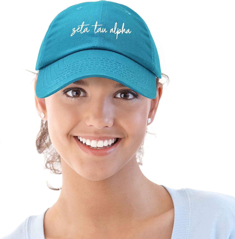 DALIX Zeta Tau Alpha Sorority Hat Womens Cursive Baseball Cap