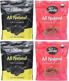Panda Licorice Chews, Non-GMO, Vegan, Kosher and All Natural, 4 Pack Assortment