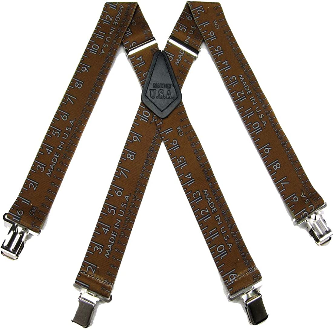 Mens Tradesman Electrician Plumber Theme Clip Suspender Made in the USA
