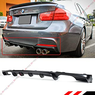 Fits for 2012-2018 BMW F30 F31 M Sport Performance Style Black Quad Exhaust Tip Rear Bumper Diffuer Valance