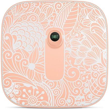 GX·Diffuser スタイルマット フットマット EMS フットマッサージ 電気マッサージャー リラクゼーション器 美脚マット 6つモード付き 足用 Rosh材料 USB式 持ち歩きやすい 贈り物 (ピンク)