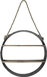 MCS 19 Inch Round Metal Wood Barrel Shelf (45888)
