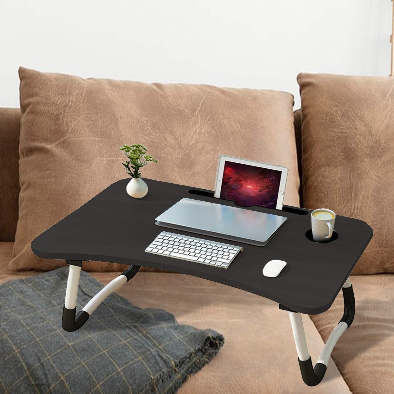 arvioo Laptop-Betttisch Lap Stehender Schreibtisch f/ür Bett und Sofa Laptop Lap-Schreibtisch Folding Fr/ühst/ück Serviertablage Notebookst/änder Lesehalter f/ür Couchboden