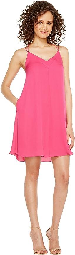 Sophia Silk Spaghetti Swing Dress
