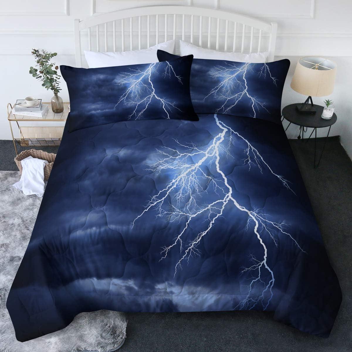 BlessLiving Columbus Mall Lightning Storm Bedding S Comforter Fashionable Strike