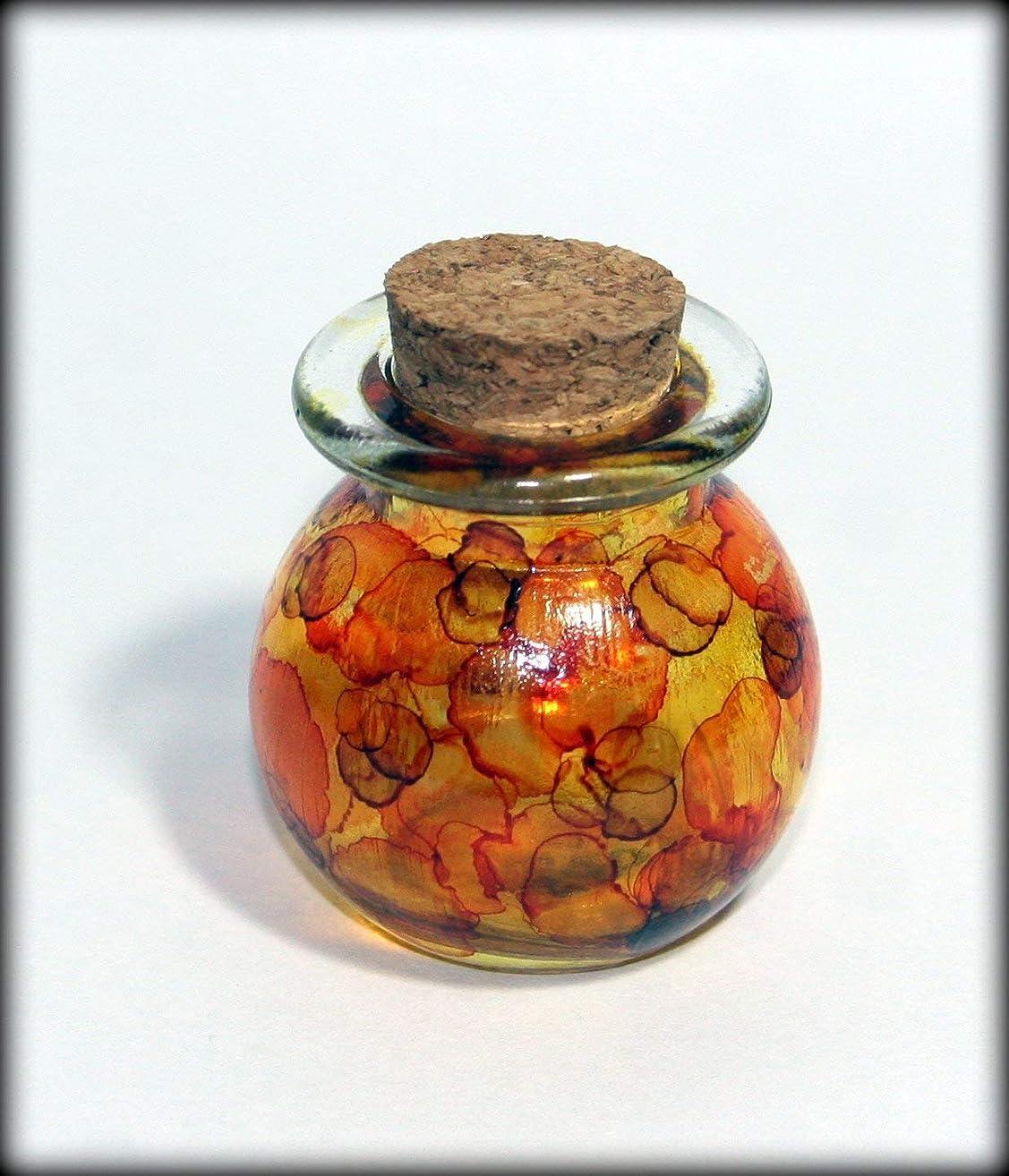 Miniature hand painted fairy light jar with lid
