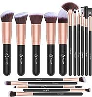 BESTOPE Makeup Brushes 16 PCs Makeup Brush Set Premium Synthetic Foundation Brush Blending Face Powder Blush Concealers...