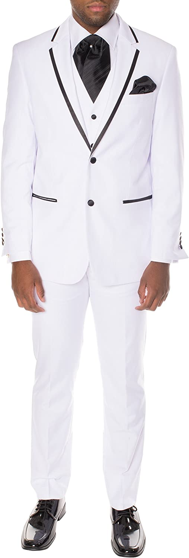 Ferrecci Men's Celio Slim Fit 3pc Tuxedo with Trim