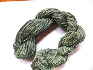 Fingering Weight Pine Green 100% Rayon Chenille Yarn
