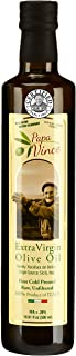 Papa Vince Olive Oil Extra Virgin, First Cold Pressed Family Harvest, Sicily, Italy | NO PESTICIDES, NO GMO | Unblended, Unfiltered, Unrefined, +Polyphenols, subtle Peppery Finish | Original16.9 fl oz