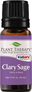 Plant Therapy Clary Sage Essential Oil 100% Pure, Undiluted, Natural Aromatherapy, Therapeutic Grade 10 mL (1/3 oz)