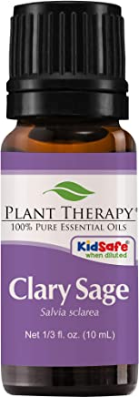 Plant Therapy Clary Sage Essential Oil 10 mL (1/3 oz) 100% Pure, Undiluted, Therapeutic Grade