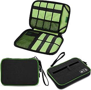 JESWOガジェットポーチ PC周辺小物用収納ポーチ トラベルポーチケーブル収納 充電器 SDカード アクセサリーケース小物入れ 旅行 出張 便利グッズ 7.9インチのiPadを収納可能