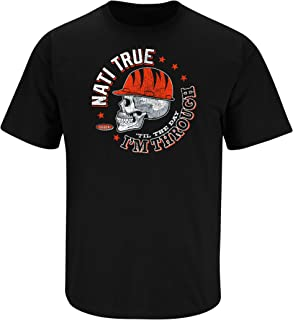 Smack Apparel Cincinnati Football Fans Sm-5X Straight Outta The NATI Black T Shirt