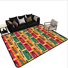 African,Floor Mat Kitchen Long Carpet 48