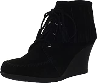 Women's Lace Up Fringe Ankle Boot