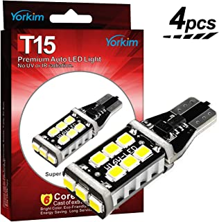 Yorkim Extremely Bright 921 LED Bulbs CANBUS Error Free for Backup Lights Reverse Lights, High
