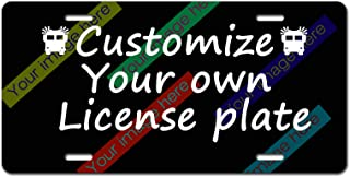 License Plate Personalized - Add Pictures, Text, Logo Or Art Design and Make Your own Customized Automotive high Gloss Metal License Plate.Aluminum License Plate, Front License Plate - 6