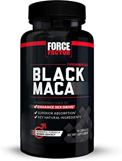 Black Maca Root Vitality Supplement for Men with Superior Absorption and Power, Natural Maca Negra Extract, Fundamentals S...