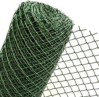 Malla de 1,5 m2 en 1,5 m de ancho de plástico para fijación de valla de jardín de malla de plástico 50 mm verde oscuro (mercancía de medición) RO5/150HD