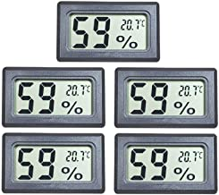EEEKit 5-Pack Mini Thermometer Hygrometer, Small LCD Digital Temperature Humidity Meter Thermometer and Humidity Gauge Cel...