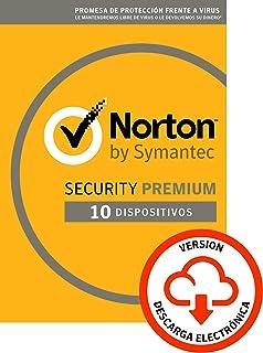 comprar comparacion Norton Security | Premium | 10 Dispositivo | 1 Año | PC/Mac | Código de activación enviado por email